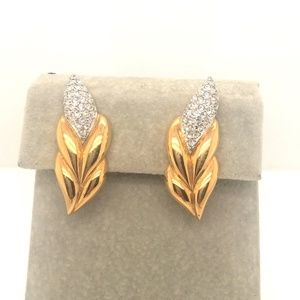 Swarovski Crystal Pave Corn CLIP ON Earrings